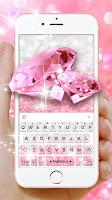 Glittering Pink Diamond Keyboard Theme