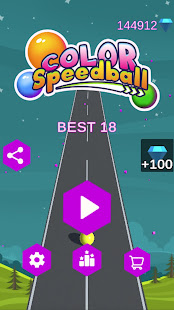 Color Speedball: 3D Road Color Ball Run with Music