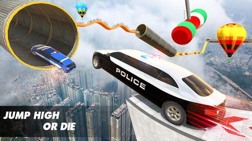 Police Limo Car Stunts Games : Mega Ramp Car Games 2.5 screenshots 2