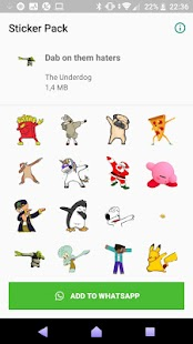 WAStickerApps Dabbing Stickers Screenshot