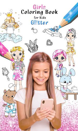 Girls Coloring Book for Kids Glitter  updownapk 1