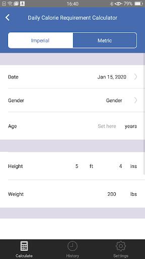 Weight Calorie Watch 3.2 Screenshots 3