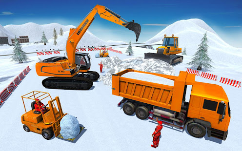 Heavy Excavator & Dozer Simulator u00b7 Snow JCB Game screenshots 1