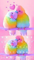 screenshot of Love Parrots 3D Wallpapers Keyboard Background