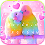 Love Parrots 3D Wallpapers Keyboard Background