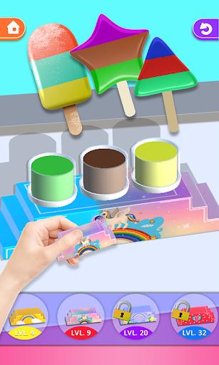 ice cream tie dye 3d! dipping master riddles asmr screenshot 3