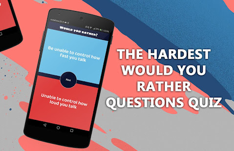 Would you rather? Quiz game