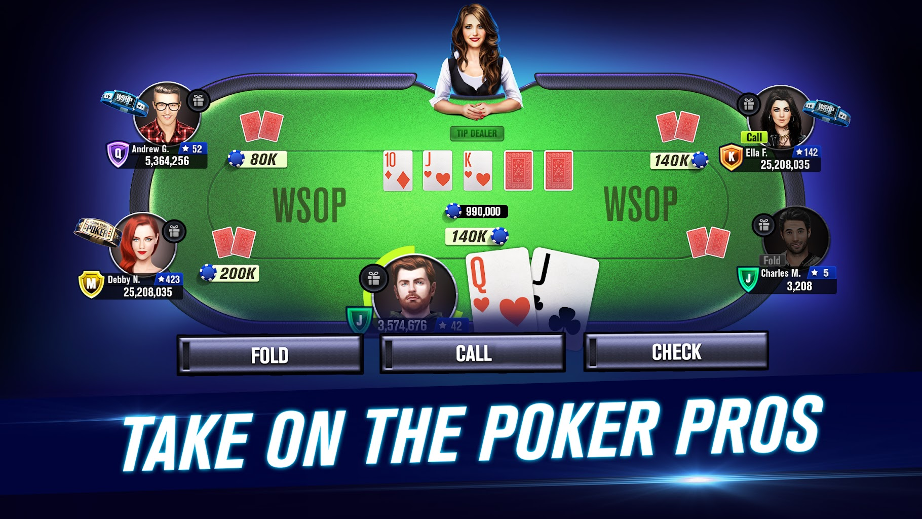 World Series Of Poker Wsop Free Texas Holdem Poker 8 4 0 Apk Download Com Playtika Wsop Gp Apk Free