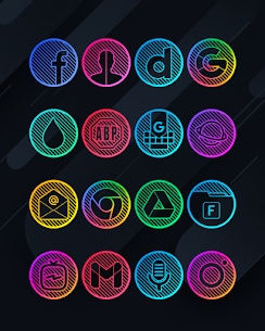 Lines Circle APK- Neon Icon Pack [PAID] Download for Android 2