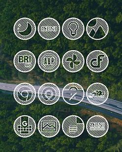 Lines Circle - White Icon Pack - Screenshot 5
