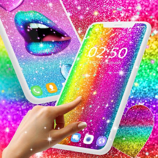Multi color glitter live wallpaper 14.2 screenshots 1