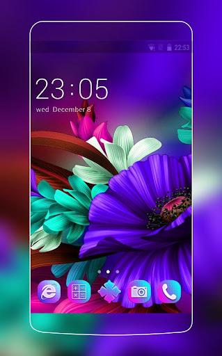 themes app for  s6 purple bloom flower screenshot 1