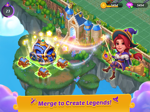 Merge Witches - merge&match to discover calm life 1.6.0 screenshots 11
