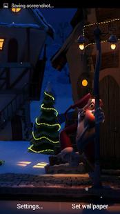 Christmas Santa 3D. Wallpaper