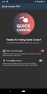 Quick Cursor: one hand mouse pointer Screenshot
