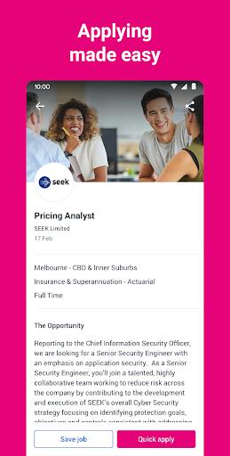 seek job search screenshot 2