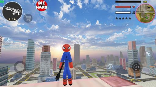 Stickman Spider Rope Hero Gangstar Crime apkpoly screenshots 2