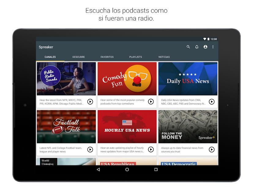 Captura de Pantalla 7 de Spreaker Podcast Player - Escucha podcasts gratis para android