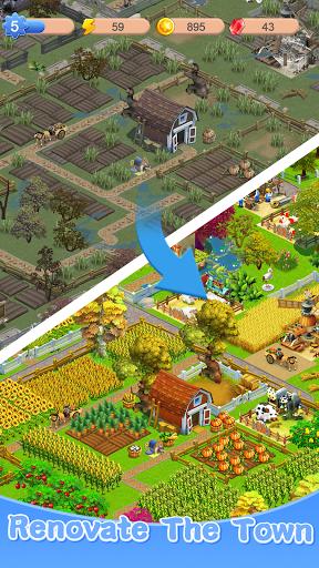 Merge Town : Design Farm  screenshots 11