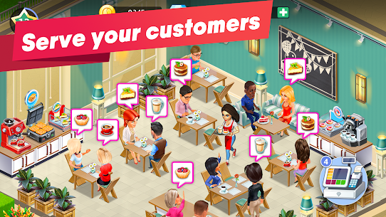 My Cafe — Restaurant game Mod Apk (Unlimited Money/Crystals/VIP 7) 1