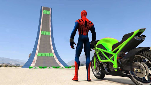 Superhero Tricky Bike Stunt GT Racing  screenshots 13