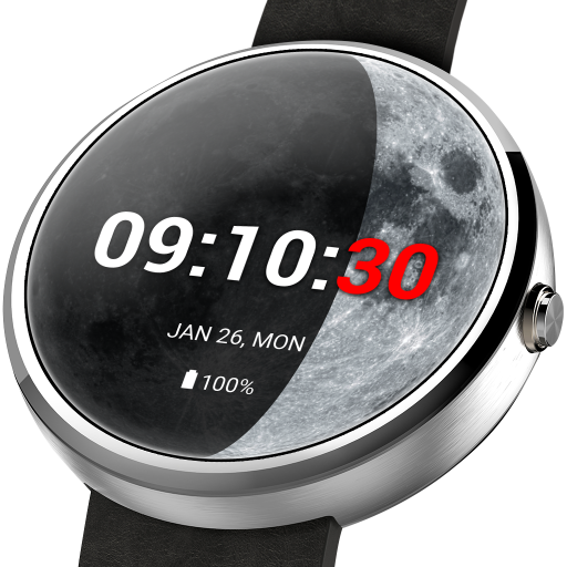 Moon Phase PRO - Watch Face For PC Windows (7, 8, 10 and 10x) & Mac Computer