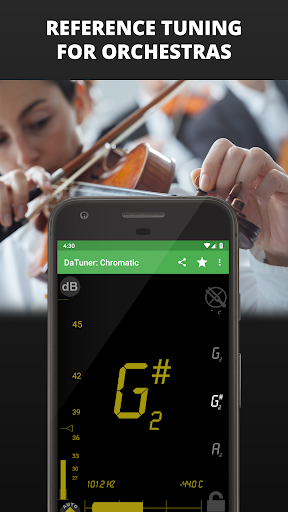 Guitar Tuner, Bass, Violin, Banjo & more | DaTuner 3.200 Screenshots 7