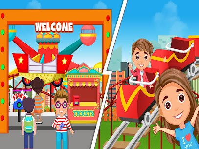 kasaba eğlence parkı hayatı  eğlenceli oyunlar Apk Son Sürüm 2021 3
