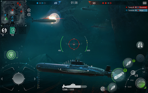 WORLD of SUBMARINES: Navy Warships Battle Wargame Apkfinish screenshots 9