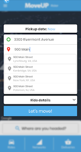 MoveUP - Rides and Deliveries
