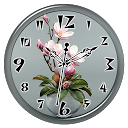 Magnolia Clock Live Wallpaper