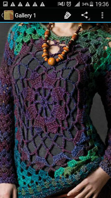かぎ針編みのセーターのおすすめ画像2