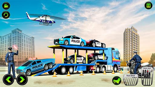 US Police CyberTruck Car Transporter: Cruise Ship 1.1.1 Screenshots 23