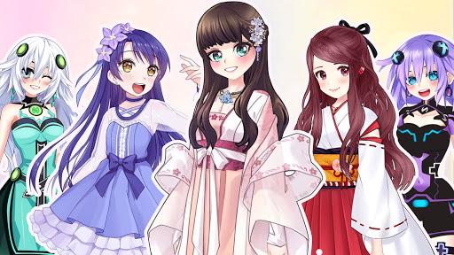 Anime Dress Up Queen Game for girls  screenshots 1