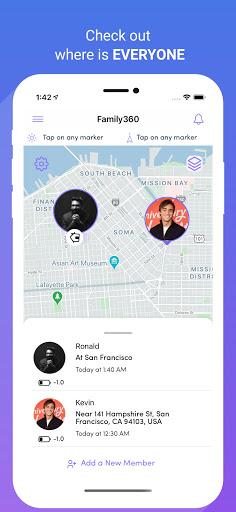 Family360 - Family Locator, GPS Tracker  screenshots 1