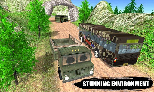 Offroad New Army Bus Game 2019 apktreat screenshots 2