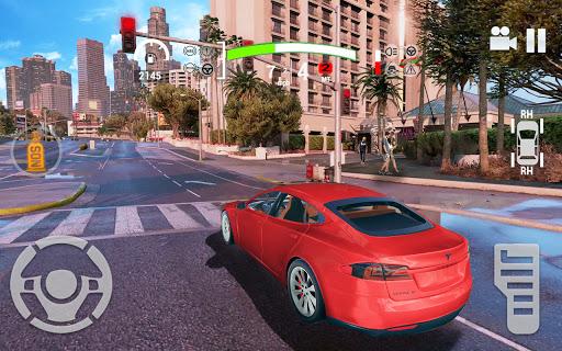 Electric Car Simulator 2021: City Driving Model X Apkfinish screenshots 7