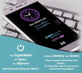 Always On Display – CryptoWake, An Advanced AOD 📴 2.00 [Mod + APK] Android 1
