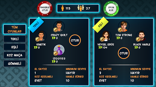 Batak Online - Tekli, Eu015fli, Gu00f6mmeli Batak 2.14.0 screenshots 7