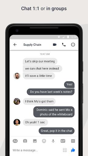 Workplace Chat 317.0.0.11.119 Screenshots 2