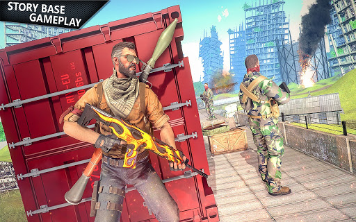 Commando Shooting Games 2021 - Cover Fire Action modiapk screenshots 1