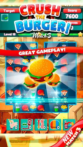 Crush The Burger ! Deluxe Match 3 Game  screenshots 1