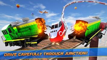 Mega Ramp Train Stunt Game