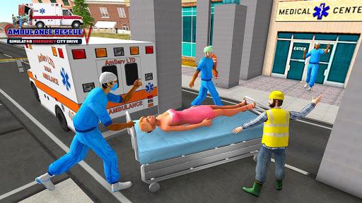 City Ambulance Rescue Simulator Games 🚑 🚁 1.0 screenshots 1