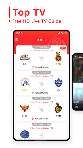 Top TV Guide - Free Live Cricket TV 2021 screen 2