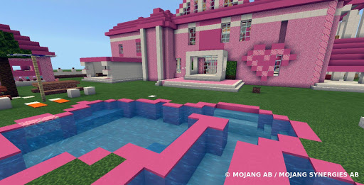Pink house with furniture. Craft maps and mods 1.0.1 Screenshots 4