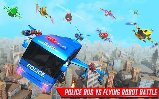 Flying Bus Robot Transform War- Police Robot Games 1.15 screenshots 3