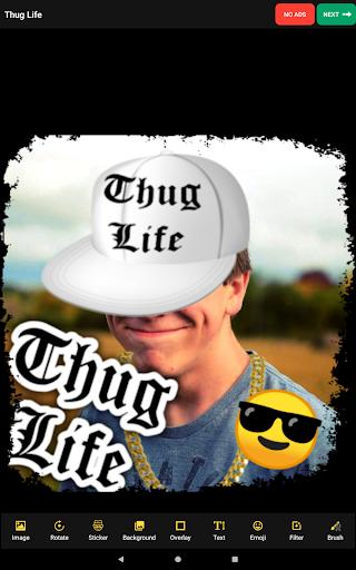 Thug Life Stickers: Pics Editor, Photo Maker, Meme android2mod screenshots 8
