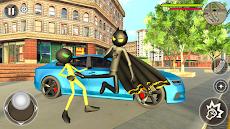 Bat Rope Hero Stickman Crime - Gangster Mafia Gameのおすすめ画像3
