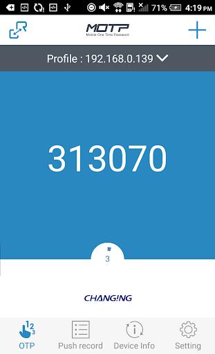 MOTP Client 3.10.7.210617 screenshots 1